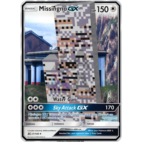 Missingno Gx Custom Pokemon Card