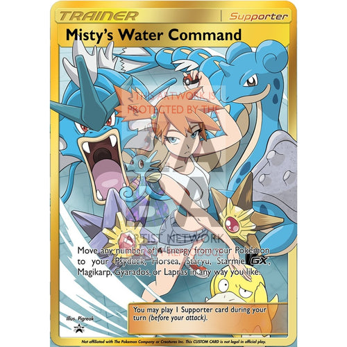 Mistys Water Command Full Art Custom Pokemon Card Silver Foil