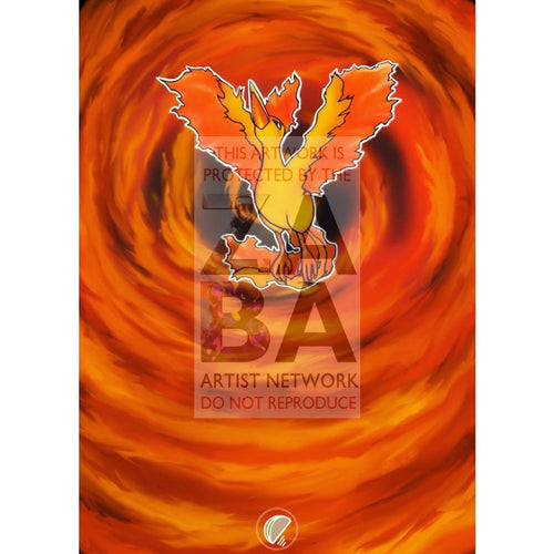 Moltres 12/62 Fossil Extended Art Custom Pokemon Card Silver Foil