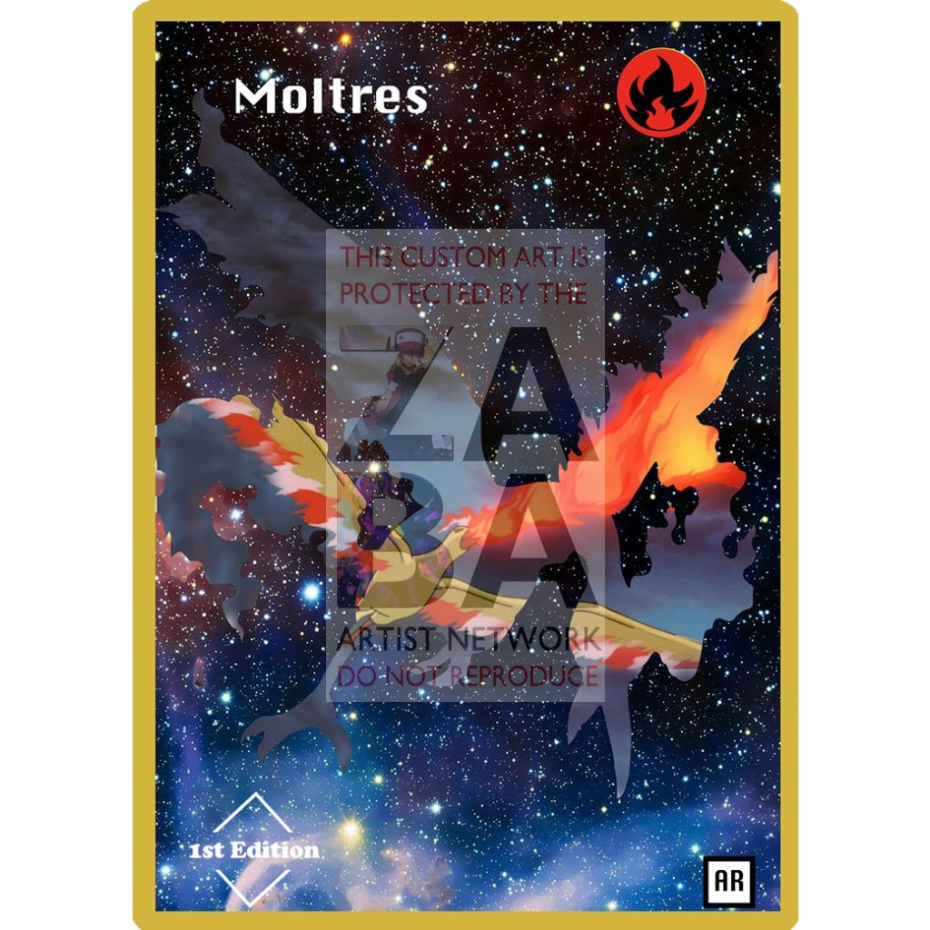 Moltres Anime Silhouette (Drewzcustomcards) - Custom Pokemon Card