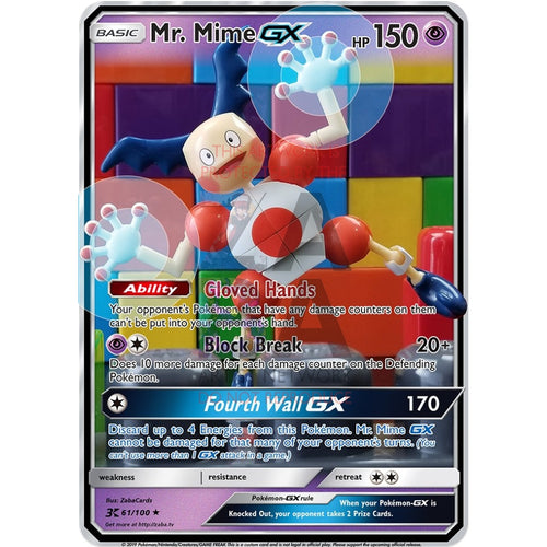 Mr. Mime Gx Custom Pokemon Card