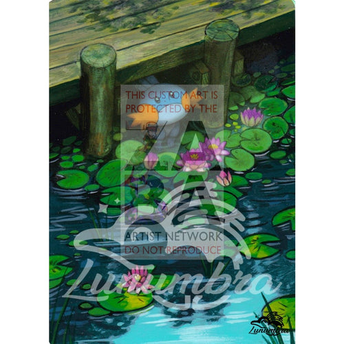 Mudkip 33/160 Xy Primal Clash Extended Art Custom Pokemon Card Textless Silver Holographic