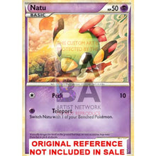 Natu 55-96 Hs Unleashed Extended Art Custom Pokemon Card