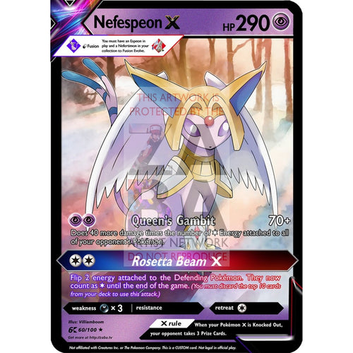 Nefespeon (Nefertimon X Espeon) Custom Pokemon Card