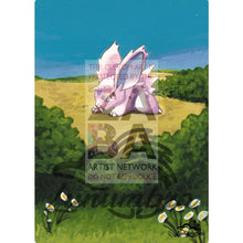 Nidoran 55/102 Base Extended Art Custom Pokemon Card Textless Silver Holographic