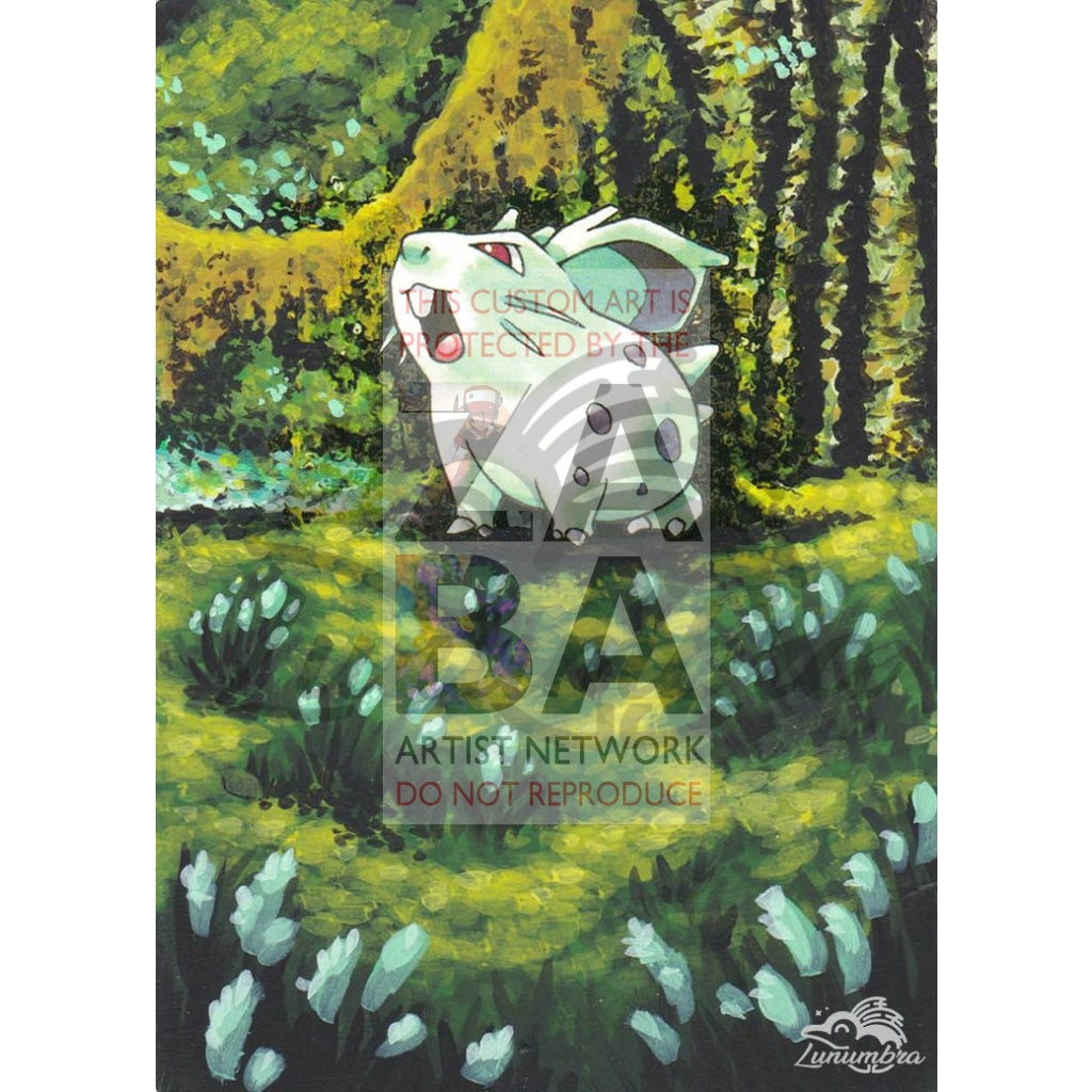 Nidoran (F) 57/64 Jungle Set Extended Art Custom Pokemon Card Textless Silver Holographic