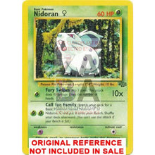 Nidoran (F) 57/64 Jungle Set Extended Art Custom Pokemon Card