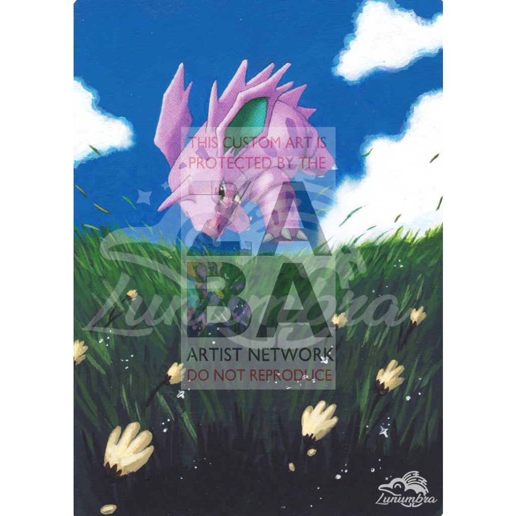 Nidorino 57/132 Secret Wonders Extended Art Custom Pokemon Card Textless Silver Holographic