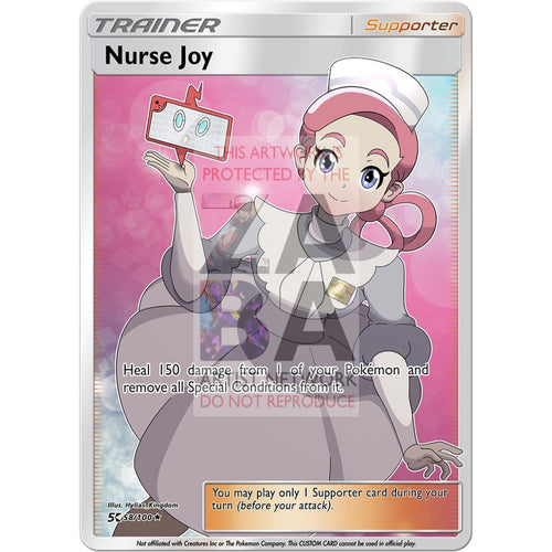Nurse Joy Custom Pokemon Card Silver Foil