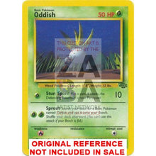 Oddish 58/64 Jungle Set Extended Art Custom Pokemon Card