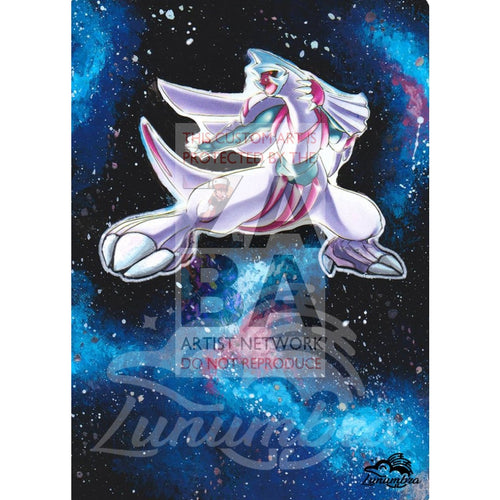 Palkia 11/100 Majestic Dawn Extended Art Custom Pokemon Card Textless Silver Holographic