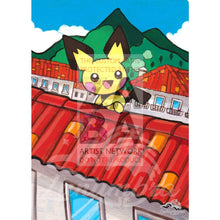 Pichu 25/99 Platinum Arceus Extended Art Custom Pokemon Card Textless Silver Holographic