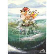 Pidgeotto 22/102 Base Extended Art Custom Pokemon Card Textless Silver Holographic