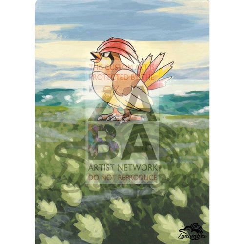 Pidgeotto 22/102 Base Set Extended Art Custom Pokemon Card Textless Silver Holographic
