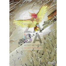 Pidgeotto 47/103 Triumphant Extended Art Custom Pokemon Card Textless Silver Holographic