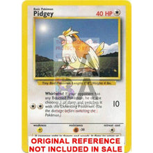 Pidgey 57/102 Base Set Extended Art Custom Pokemon Card