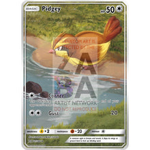 Pidgey Fire Red & Leaf Green 73/112 Extended Art Custom Pokemon Card Non-Holographic