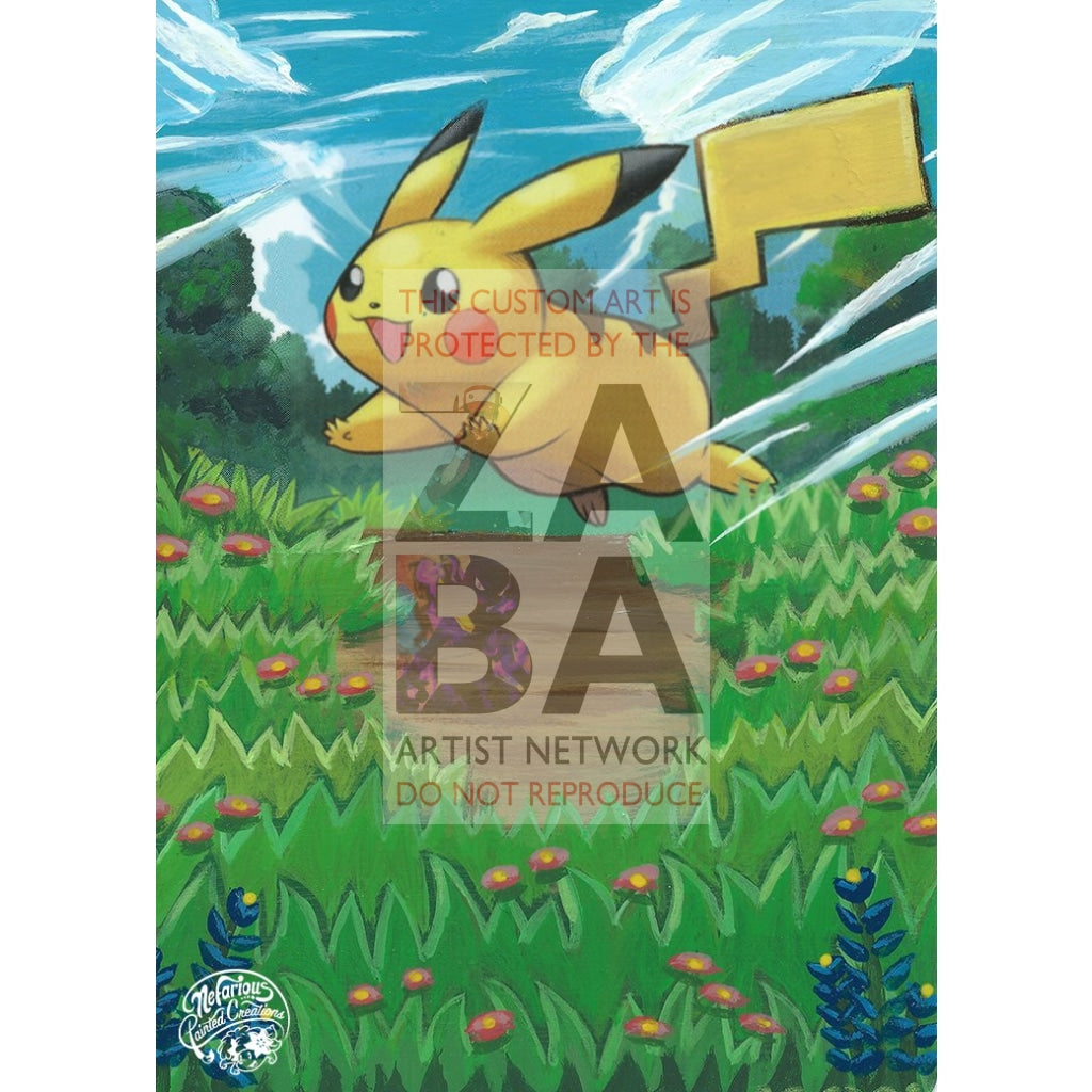 Pikachu 120/147 Supreme Victors Extended Art Custom Pokemon Card Silver Holo