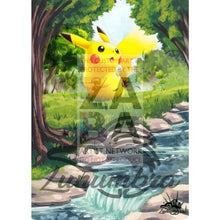 Pikachu 48/162 Xy Breakthrough Extended Art Custom Pokemon Card Textless Silver Holographic