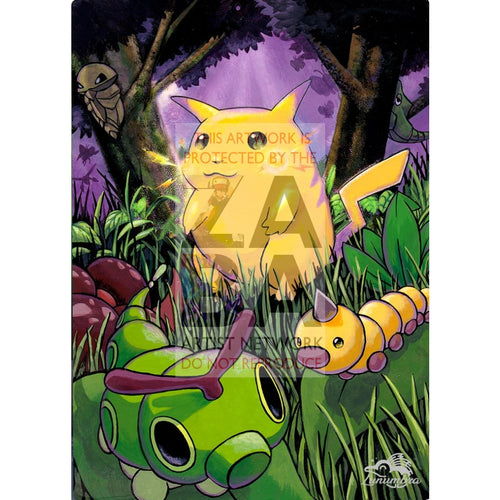 Pikachu 58/102 Base Set Extended Art Custom Pokemon Card Textless Silver Holographic