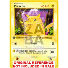 Pikachu 58/102 Base Set Extended Art Custom Pokemon Card