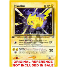 Pikachu 70/111 Neo Genesis Extended Art Custom Pokemon Card