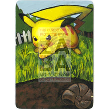 Pikachu 78/123 Heartgold Soulsilver Extended Art Custom Pokemon Card Textless Silver Holographic