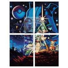 Poke Wars 10.5X8 Holographic Poster + Custom Card Gift Set 4 Part Mega (Minior Art) Pokemon