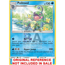 Politoed 25/145 Guardians Rising Extended Art Custom Pokemon Card