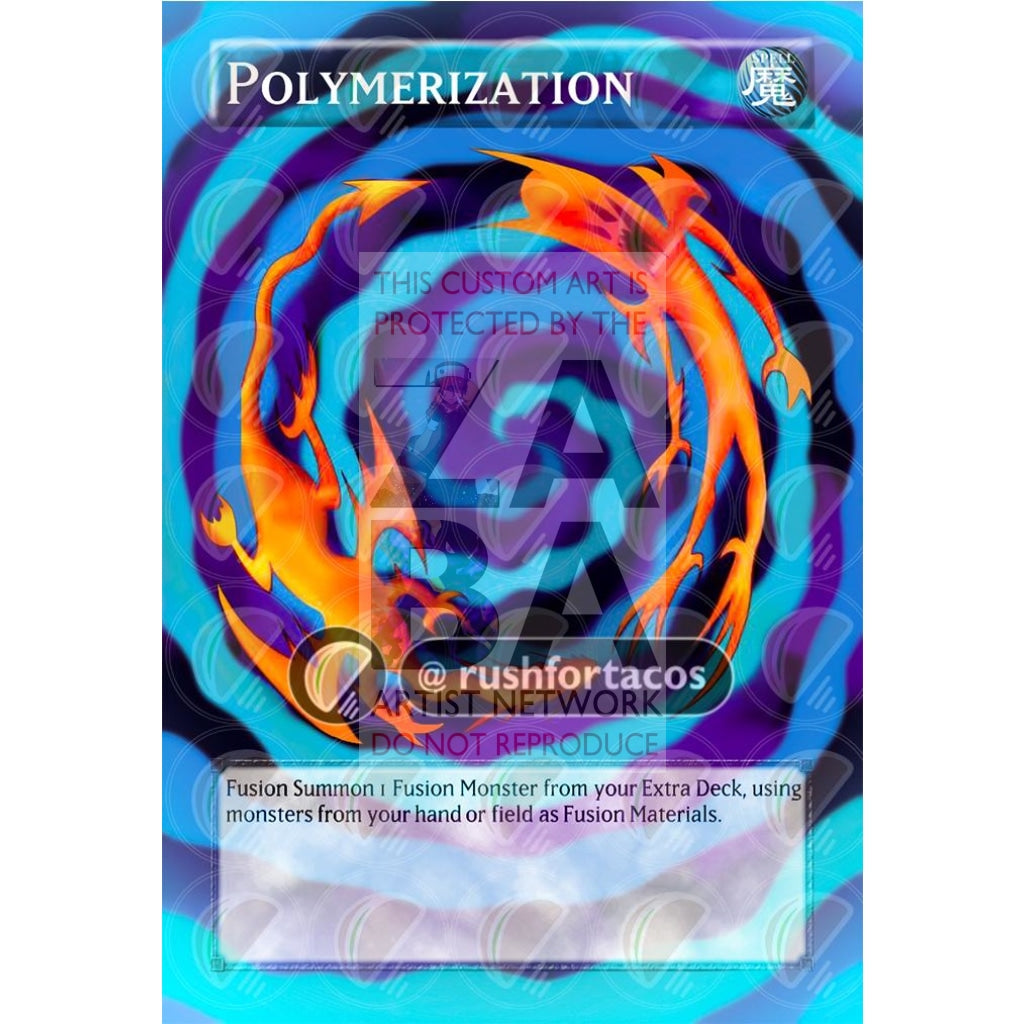 Polymerization Full Art Orica - Custom Yu-Gi-Oh! Card Silver Holographic