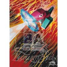 Porygon 103/147 Burning Shadows Extended Art Custom Pokemon Card Textless Silver Holographic