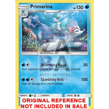 Primarina 41/149 Sun & Moon Extended Art Custom Pokemon Card