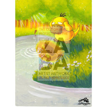 Psyduck 53/62 Fossil Extended Art Custom Pokemon Card Textless Silver Holographic