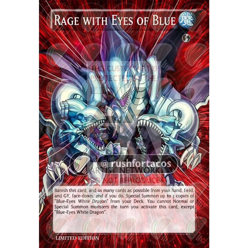 Rage With Eyes Of Blue Full Art Orica - Custom Yu-Gi-Oh! Card