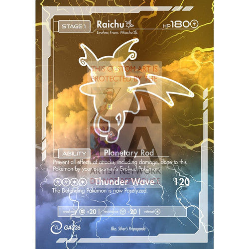 Raichu Constellation Card - Custom Pokemon