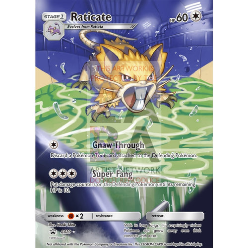 Raticate 105/149 Boundaries Crossed Extended Art Custom Pokemon Card Silver Foil / Text
