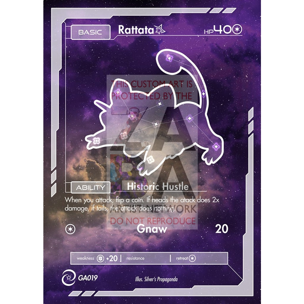 Rattata Constellation Card - Custom Pokemon