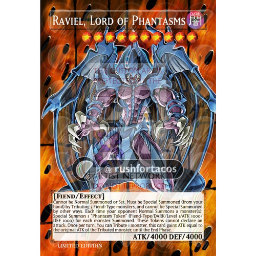 Raviel Lord Of Phantasms Full Art Orica- Custom Yu-Gi-Oh! Card