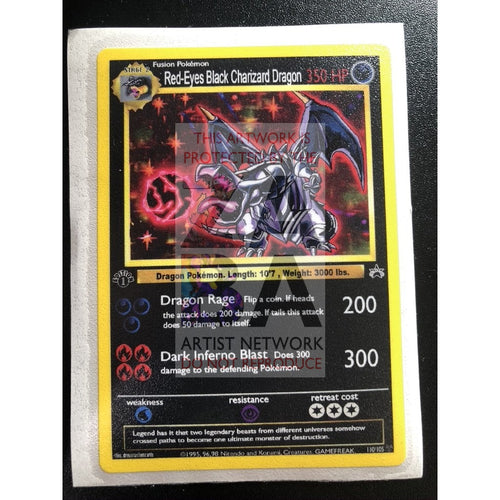 Red-Eyes Black Charizard 3X4 Sticker - Custom Pokemon Sticker Card