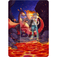 Reds Charizard Gx Custom Pokemon Card Textless Silver Holographic