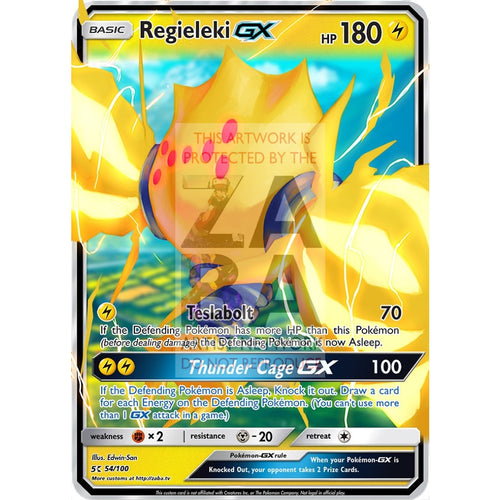 Regieleki Gx Custom Pokemon Card Silver Foil