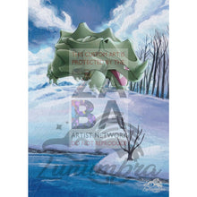Rhyhorn 95/130 Diamond & Pearl Extended Art Custom Pokemon Card Textless Silver Holographic
