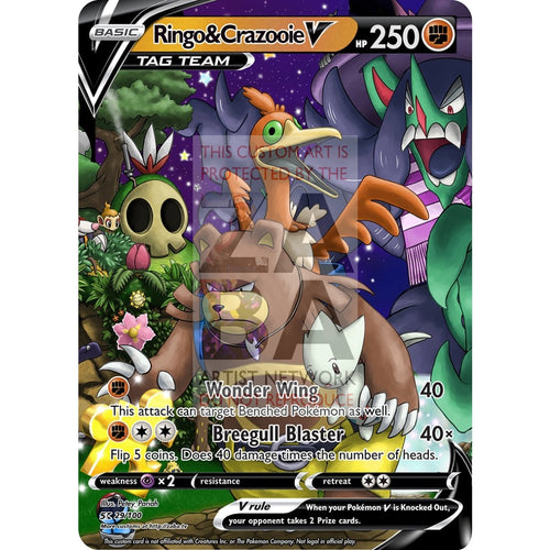 Ringo & Crazooie V Tag Team Banjo Kazooie X Pokemon Card Silver Foil Custom