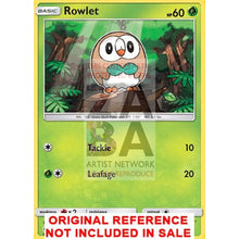 Rowlet 9/149 Sun & Moon Extended Art Custom Pokemon Card