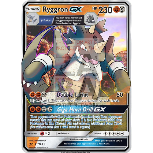 Ryggron Gx Fusion Custom Pokemon Card