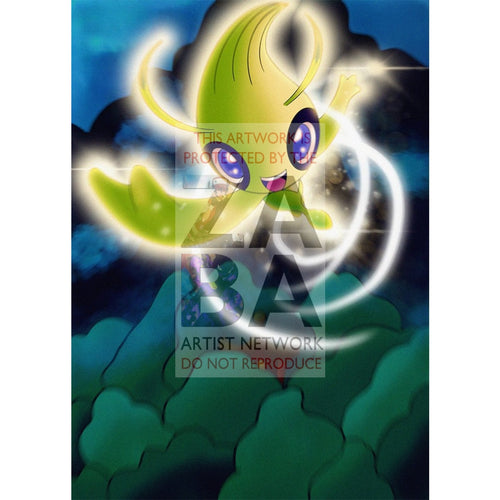 _____S Celebi 012/play Promo Card Extended Art Custom Pokemon Silver Foil