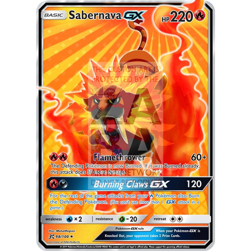 Sabernava (Mahat Region) Custom Pokemon Card Basic Stage