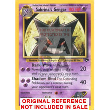 Sabrinas Gengar 29/132 Gym Challenge Extended Art Custom Pokemon Card