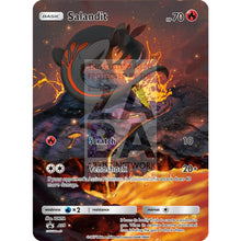 Salandit 15/145 Guardians Rising Extended Art Custom Pokemon Card Silver Holographic