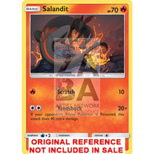 Salandit 15/145 Guardians Rising Extended Art Custom Pokemon Card